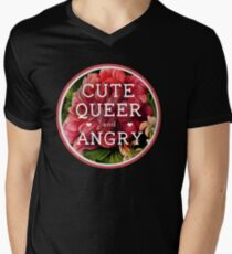Cute, Queer and Angry Men's V-Neck T-Shirt