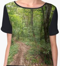 Deciduous forest in the summer Chiffon Top