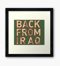 Back From Iraq - Iraq Vets Framed Print