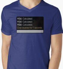Calculated Mens V-Neck T-Shirt