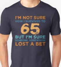 65th Birthday Survival Unisex T-Shirt