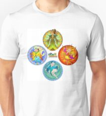 The Four Elements - Earth, Air, Fire & Water T-Shirt