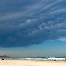 beach snap with clouds by Zefira