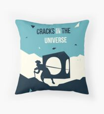 Cracks in the universe Throw Pillow