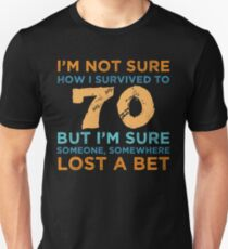 70th Birthday Survival T-Shirt