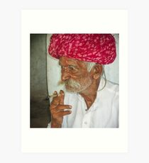Bishnoi Village Elder Art Print
