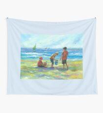 THREE LITTLE BEACH BOYS II Wall Tapestry