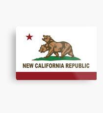 New California Republic Flag Original  Metal Print