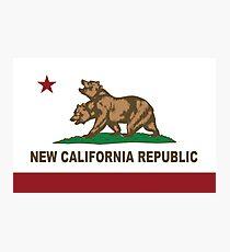 Lámina fotográfica Nueva bandera de la República de California Original