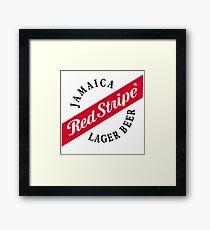 red stripe Framed Print