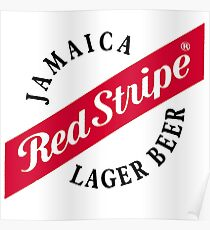 red stripe Poster