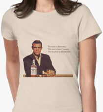 The Bourbon of Sean Connery Women's Fitted T-Shirt