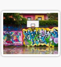 Graffitied Court Sticker