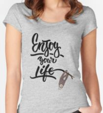 enjoy life Women's Fitted Scoop T-Shirt