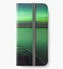 Northern lights glow over lake iPhone Wallet/Case/Skin