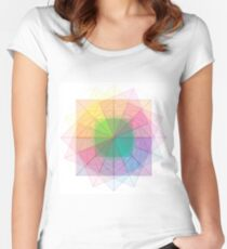 Sacred Geometry cubed orb Women's Fitted Scoop T-Shirt