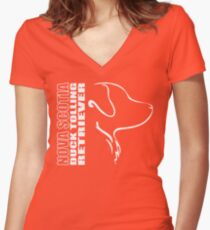 NOVA SCOTIA DUCK TOLLING RETRIEVER - outline Women's Fitted V-Neck T-Shirt