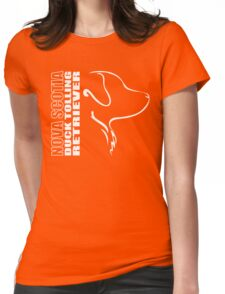 NOVA SCOTIA DUCK TOLLING RETRIEVER - outline Womens Fitted T-Shirt