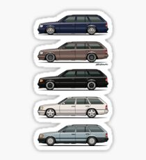 Stack of Mercedes W124 S124 E-Class Wagons Sticker