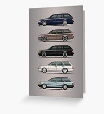 Stack of Mercedes W124 S124 E-Class Wagons Greeting Card