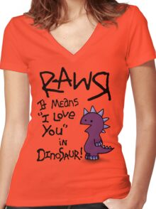 Rawr Women's Fitted V-Neck T-Shirt