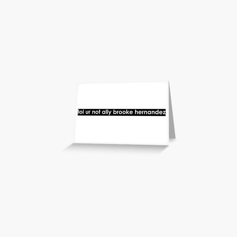 lol ur no ally (fuente blanca) Tarjetas de felicitación