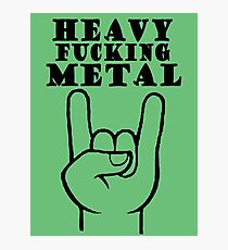 Heavy Metal Photographic Print