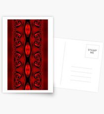 Blood Red Tapestry Postcards