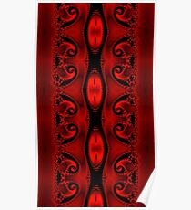 Blood Red Tapestry Poster