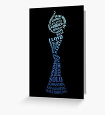 USA Women Soccer World Champions 2015 dark Greeting Card
