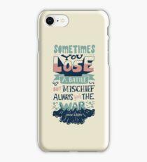 Mischief always wins the war iPhone Case/Skin