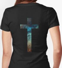 Christian Cross Women's Fitted T-Shirt