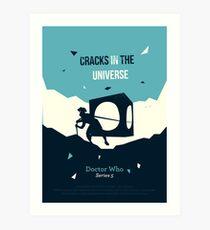 Cracks in the universe Art Print