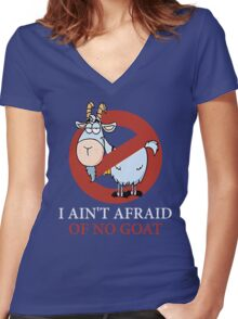 Bill murray cubs shirt - I Ain't Afraid Of No Goat Shirts Women's Fitted V-Neck T-Shirt