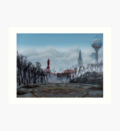 Fallout 4 art prints redbubble for Fallout 4 canvas painting