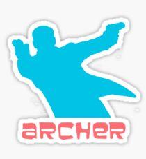 Archer silhouette coloured Sticker