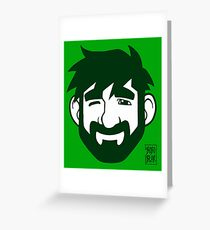 ADAM LIKES GREEN Greeting Card