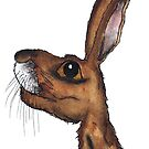 BROWN HARE by Hares & Critters
