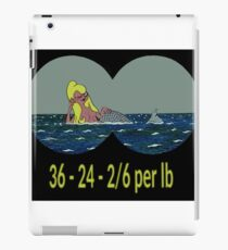 Joe & Petunia Mermaid - Vital Statistics joke iPad Case/Skin
