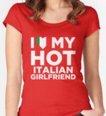 I Love My Hot Italian Girlfriend Women's Fitted Scoop T-Shirt