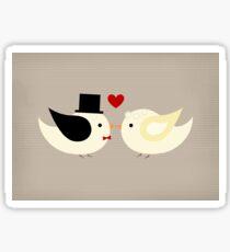 Married Canary Birds  Sticker