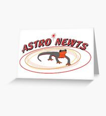 Astro Newts Greeting Card