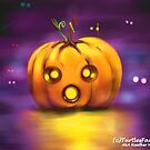 The frightened little pumpkin by Heather M Arts