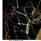 «Negro y Gold Marble Pantone» de capsizx