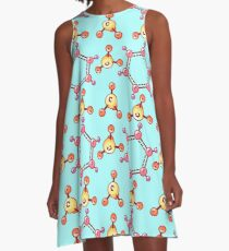 Pattern with chemical elements. A-Line Dress