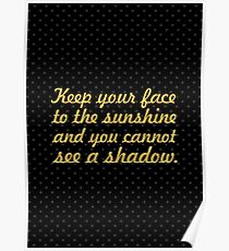 """Keep your face to the... """"Helen Keller"""" Inspirational Quote Poster"""