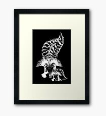 Wacky Weasel Purple Framed Print