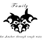 Orca Family anchor by Michelle *