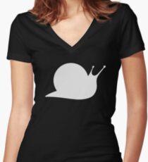 SNAILS Logo Women's Fitted V-Neck T-Shirt