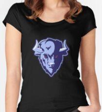 Buffalo Head Mascot Emblem. Women's Fitted Scoop T-Shirt